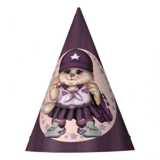 SCOUT CAT GIRL CARTOON Party Hat