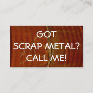 Metal recycling business cards zazzle nz scrap metal collector business card reheart Choice Image