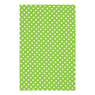 Scrapbook Paper - Green Polkadot Customised Stationery