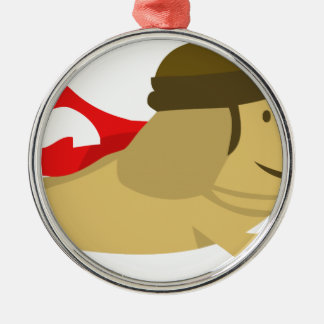 Scrappy Dog Super Swag Christmas Ornament