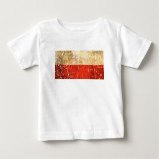 Scratched and Worn Vintage Polish Flag Baby T-Shirt