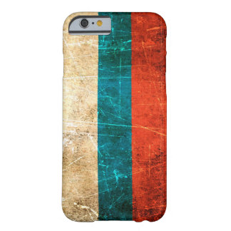 Scratched and Worn Vintage Russian Flag Barely There iPhone 6 Case