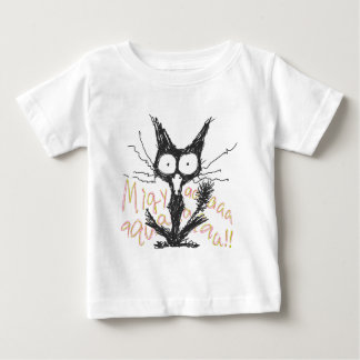 Screaming cat *Migyaaa! *Colorful-Font Baby T-Shirt