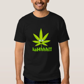 Screaming weed t-shirt
