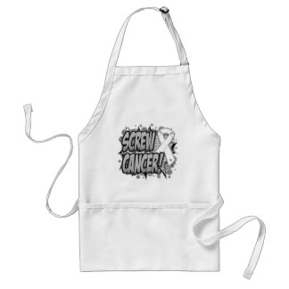 Screw Lung Cancer Comic Style Standard Apron