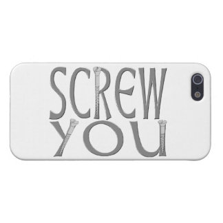 Screw You With Screws Case For iPhone 5/5S