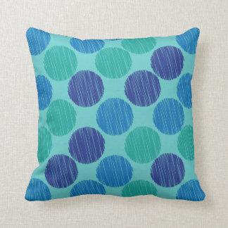 Scribble Polka Dots Pattern Cushion