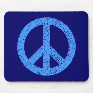 Scribble Stencilled Peace Symbol Mouse Pad