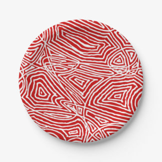 Scribbleprints Red Paper Plate