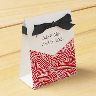 Scribbleprints Red Pattern Favour Box