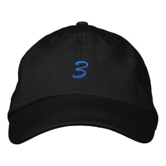 Script-Number 3 Embroidered Hat