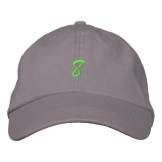Script-Number 8 Embroidered Hats