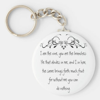 Scripture, John 5:15 I am the Vine Key Ring