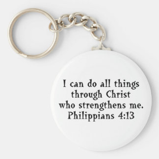 scripture Phil 4:13 Key Ring