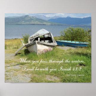 Scripture poster boat lakeshore Isaiah