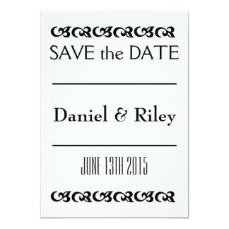 """Scrolls"" Save the Date 5x7 Paper Invitation Card"