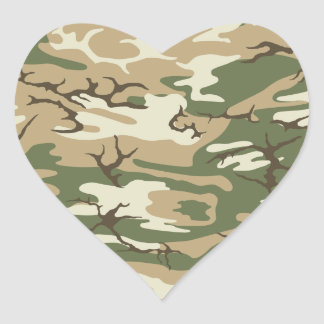 Scrub Camo Heart Sticker