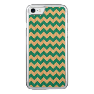 Scuba Blue White Chevron Pattern Carved iPhone 8/7 Case