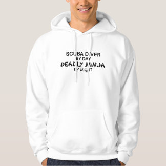Scuba Deadly Ninja by Night Hoodie