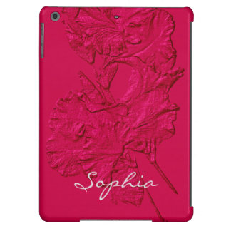 Sculpted Iris Petals, Raspberry-iPad Air Case