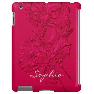 Sculpted Iris Petals, Raspberry-iPad Case