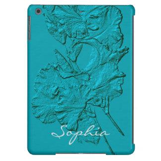 Sculpted Iris Petals, Soft Blue-iPad Air Case