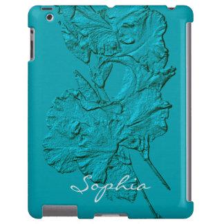 Sculpted Iris Petals, Soft Blue-iPad Case