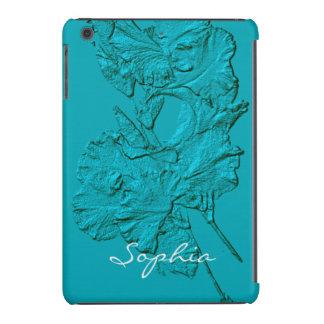 Sculpted Iris Petals, Soft Blue-iPad Mini Case