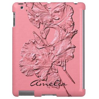 Sculpted Iris Petals, Soft Pink-Ipad Case