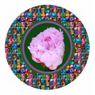 Sculpture Pink Rose Flower Floral Decorations Standing Photo Sculpture