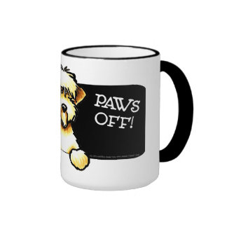 SCWT Protected By Wheaten Terrier Paws Off Ringer Coffee Mug