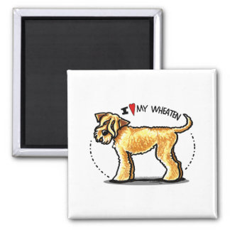 SCWT Wheaten Terrier Lover Square Magnet