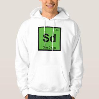 Sd - San Diego California Chemistry Symbol Hoodie