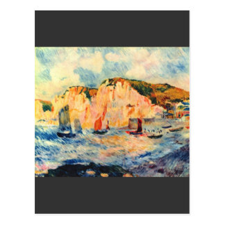 Sea and cliffs by Pierre Renoir Postcard