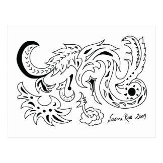 Sea and Star Dragons Postcard