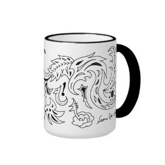 Sea and Star Dragons Ringer Mug