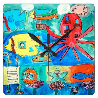Sea Animals Clock Kids Room