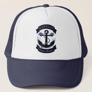 Sea captain sailor personalised trucker hat
