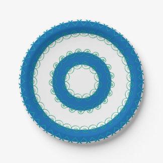 Sea Colored Paper Plates