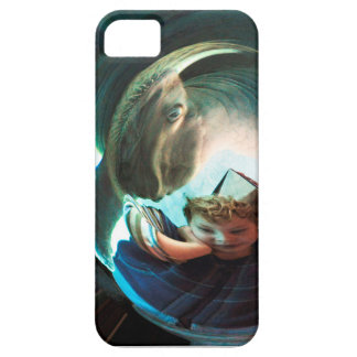 Sea Creature, boy with water monster iPhone 5 Cover