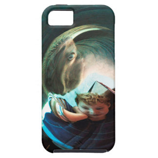 Sea Creature, boy with water monster iPhone 5 Cases