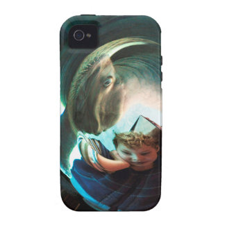 Sea Creature, boy with water monster iPhone 4 Cover