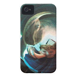 Sea Creature, boy with water monster iPhone 4 Case-Mate Case