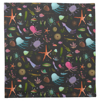 Sea Critters Pattern Napkin