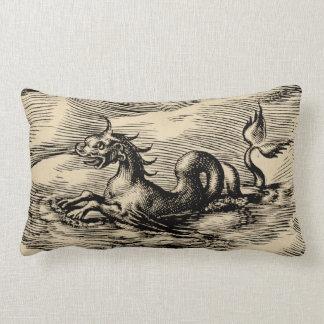 Sea Dragon at the Equator Throw Cushion