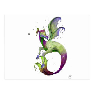 Sea Dragon by April Robbins Post Cards
