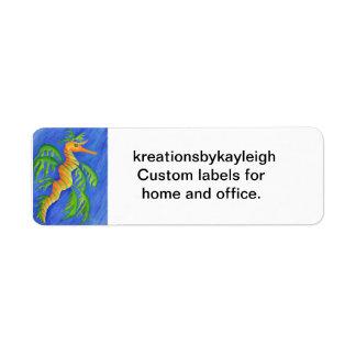 Sea Dragon Return Address Label