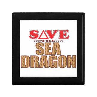 Sea Dragon Save Small Square Gift Box