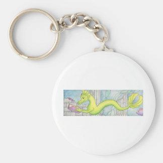 Sea Dragon Treasure Basic Round Button Key Ring