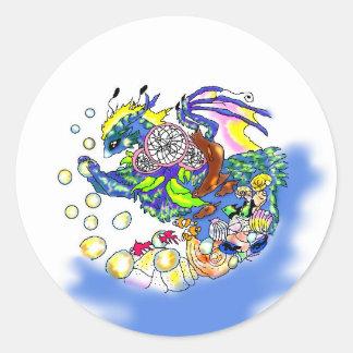Sea Dream Dragon Stickers